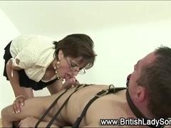 Lady Sonia gives bdsm blowjob