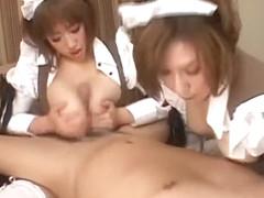 Incredible Japanese chick Chisa Hoshijima, Hikari Kirishima, Aika Kaduki in Horny Fetish, Blowjob/.