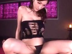 Horny Japanese chick Julia in Incredible DP/Futa-ana, Facial JAV video