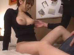Crazy Japanese model Erina Moe in Amazing Cunnilingus JAV scene