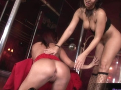 Two hot lesbians Kathy and Maria playing together