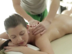 Massage then enjoyable sex
