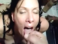No worries she will eat all his cum