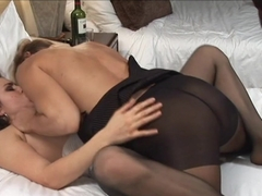Incredible pornstars Emily Parker, Nicole Moore in Hottest Stockings, MILF sex video