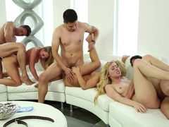 Amazing pornstars Tommy Gunn, Lucy Tyler, Carter Cruise in Crazy Group sex, Blonde adult movie