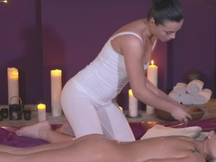Fabulous pornstars Anna Rose, Cristin Caitlin, Vinna Reed in Amazing Fingering, Massage sex movie