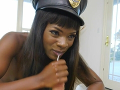 Pulle over by sexy black cop