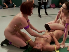 Sept. Tag Team Match-Up!! Fierce Fight, Face Sitting, Finger Fucking