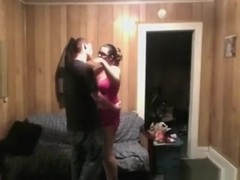 Nerdy girl makes a sextape with her bf on the sofa