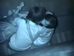 Voyeur tapes couples having sex in an alley compilation