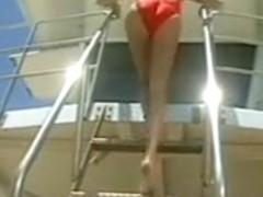 Amber Lynn doing the lifeguard