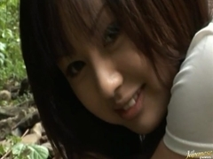 Junko Hayma Asian doll enjoys sex out in the open