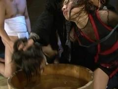Yuna Mizumoto and Io Asuka Asian babe in hot BDSM cosplay