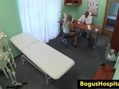 Euro patient creampied during doctors exam