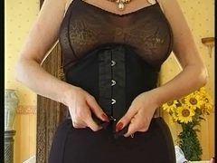 Breasty mother I'd like to fuck with enormous nipp snatch piercings in corset
