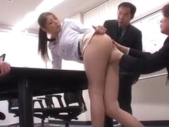 Exotic Japanese whore Hina Akiyoshi in Incredible Stockings, Handjobs JAV movie