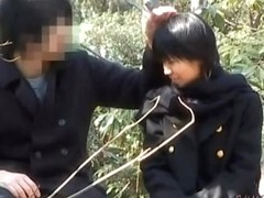 Japanese couple caught making out nicely in a public park