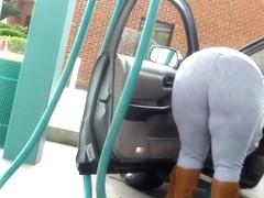 Huge Ass BBW at the car wash