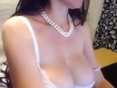 Belladonna in a white bra