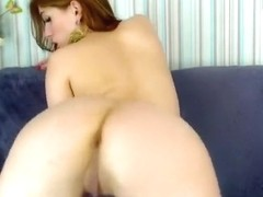 Romanian girl ManuellaZ play with tits and riding dildo