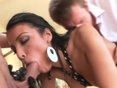 Horny pornstar Maya Gates in exotic threesome, anal xxx scene