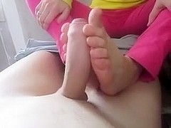 first time teenage footjob