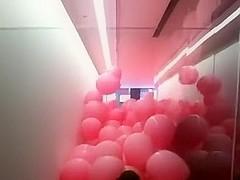 Mass Pink Balloon Burst