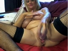 Sexy Mother I'd Like To Fuck Masturbates With a Giant Marital-Device's