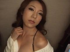 Kanako Tsuchiyo tries tasty cock between her smooth lips