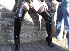 Street Floozy in Haunch Boots
