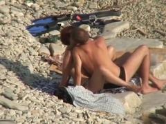 immature slut got fucked on a beach
