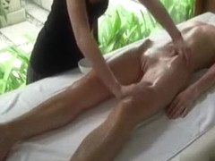Sensual lesbian massage with pussy fingering