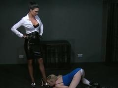 BDSM XXX Horny sub lets Mistress into darkest secrets