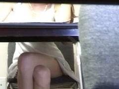 Teen voyeur upskirt