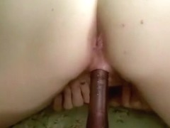 Pretty blonde milf wife get fuck hard doggy style friday evening when stay alone