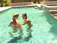 Best pornstars Celeste Star and Brett Rossi in crazy blonde, masturbation adult scene
