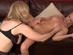 Horny pornstars Nina Hartley, Elaina Raye in Incredible Big Tits, Lesbian adult video