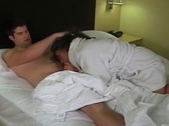 Swinger housewife rides ally's lad in hotel