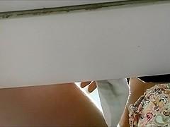 Spycam in einer Umkleidekabine.