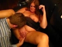 Redhead wife receives shared