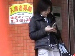 Tight zealous slut texting her boyfriend during fast sharking action
