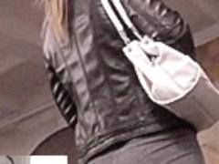 Sexy bubble wazoo in taut grey panties