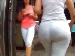 see through ass leggings culona