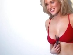Helen Flanagan Showing Off Her Cleavage