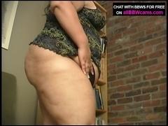 Fat BBW panties insertion