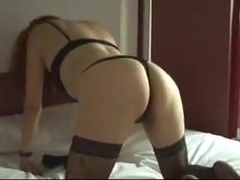 Sexy redhead slut gets her pussy nailed in doggy style