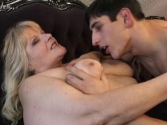 Grandma drilled by her toyboy