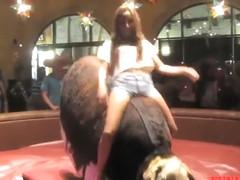 Stunning babes taking the bull ride