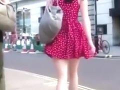 Slow motion upskirt videos of girls in public