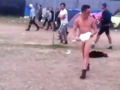 Tripping and dancing naked at a festival